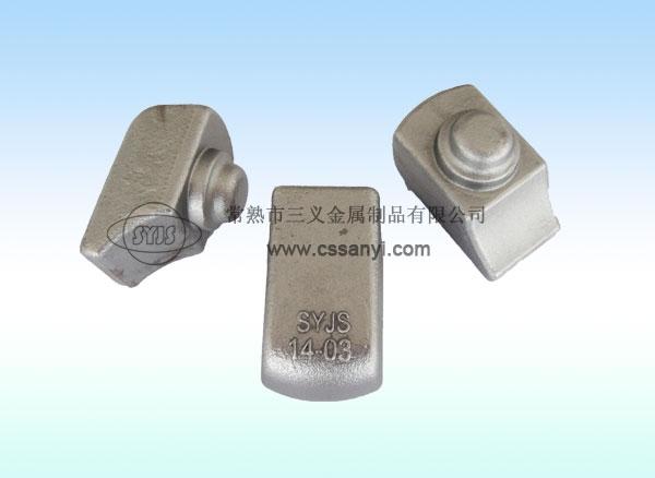 焊接式铁路垫板压块
